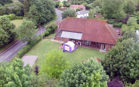 Itchen Abbas and Avington Village Hall from above
